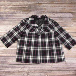 Dolled Up by FANG Baby Doll Jacket Plaid Girls L